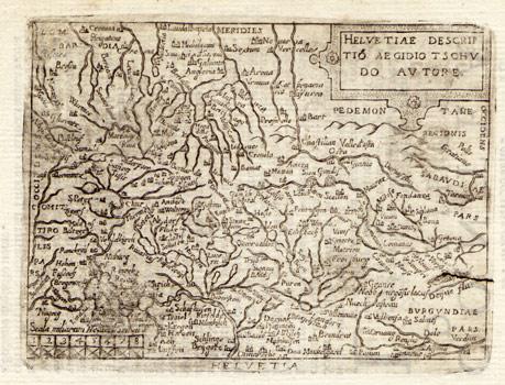 ORTELIUS, ABRAHAM (1527-1598): - Helvetiae descriptio. Carte gravée de la Suisse.