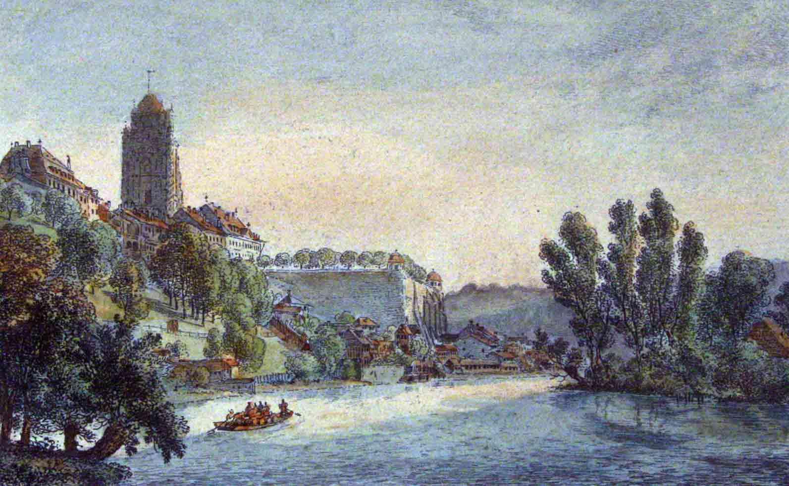 KOENIG, F. N. (FRANZ-NIKLAUS KOENIG, 1765-1832): - Vue de Berne en Suisse.