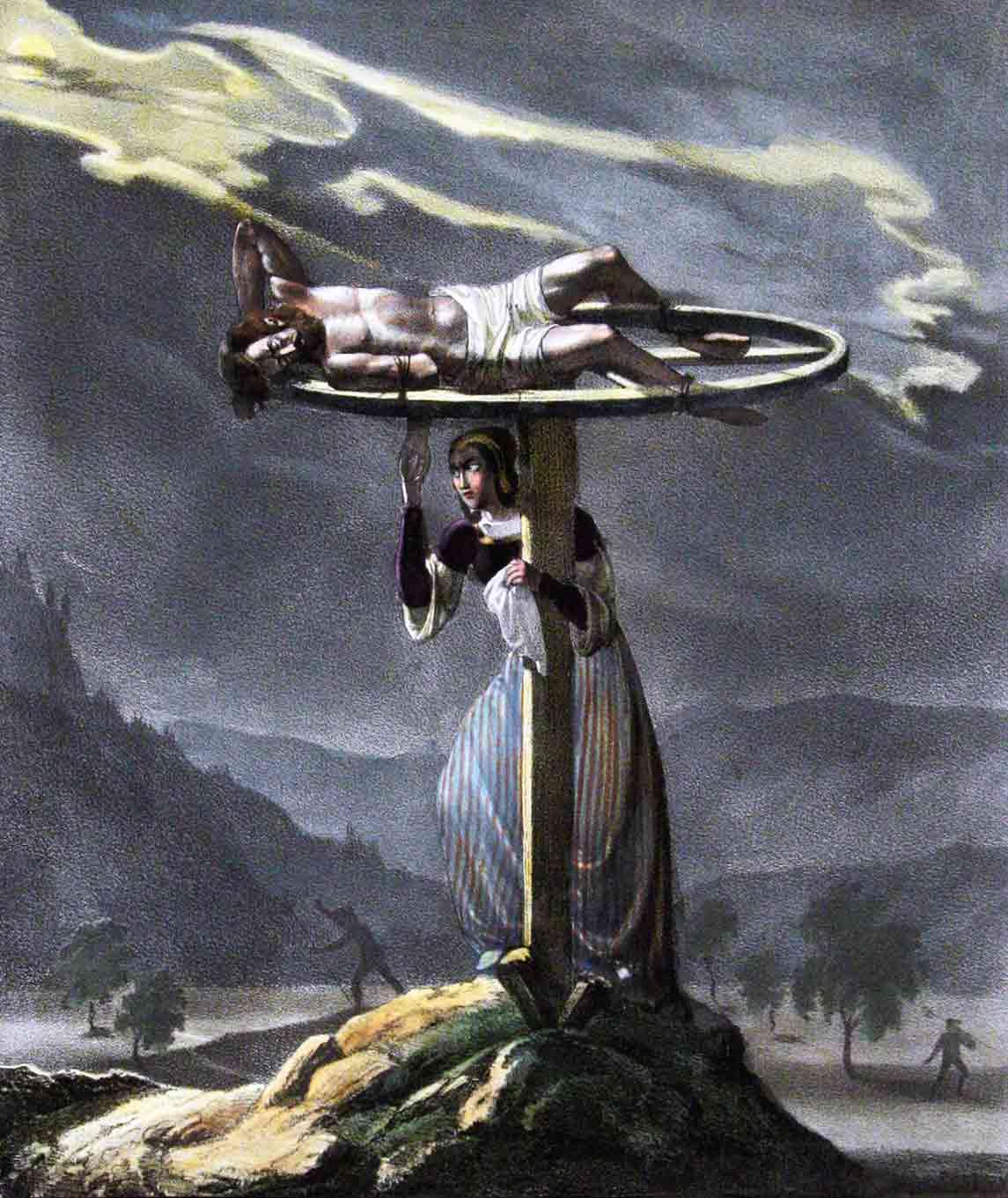 HONEGGER LITH. V. / STEFFAN, AUF STEIN GEZ. V.: - Gertrud von Wart. (Aargau 1308).