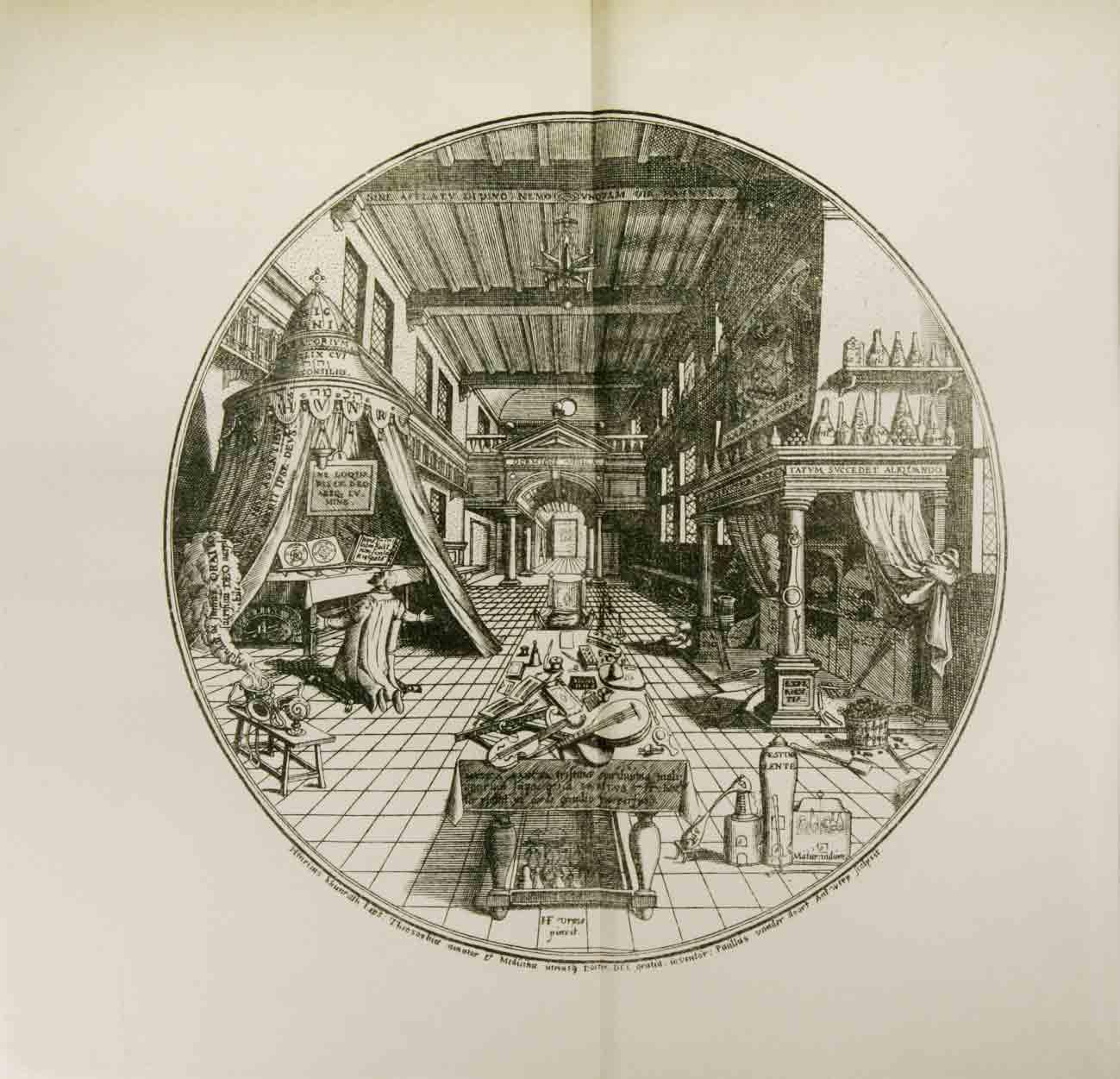 KHUNRATH, H., (DE LEIPZIG): - Amphithéâtre christiano-kabbalistique, divino-magique, physico-chimique, ter-tri-uno-catholique de l'éternelle sapience seule vraie. Disposé par Henri Khvnrath de Leipzig.