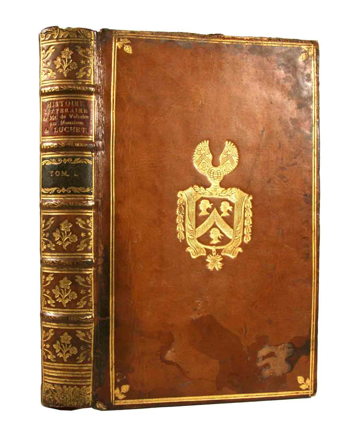 VOLTAIRE - LE MARQUIS DE LUCHET:: - Histoire littéraire de Monsieur de Voltaire. Tome I. (seul).