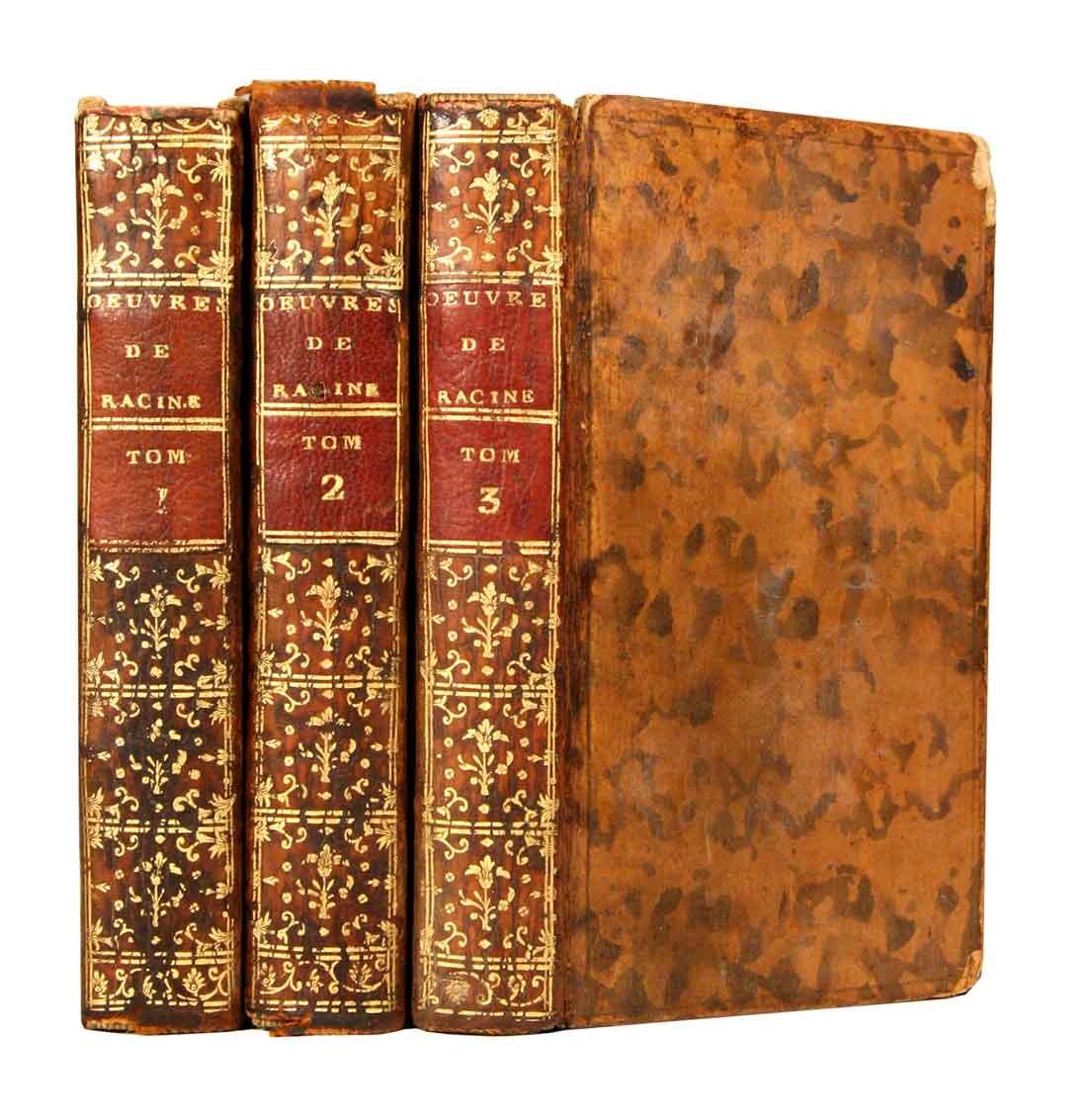 RACINE, JEAN: - Oeuvres. Nouvelle edition, plus correcte & plus ample que les précédentes.  En 3 volumes.
