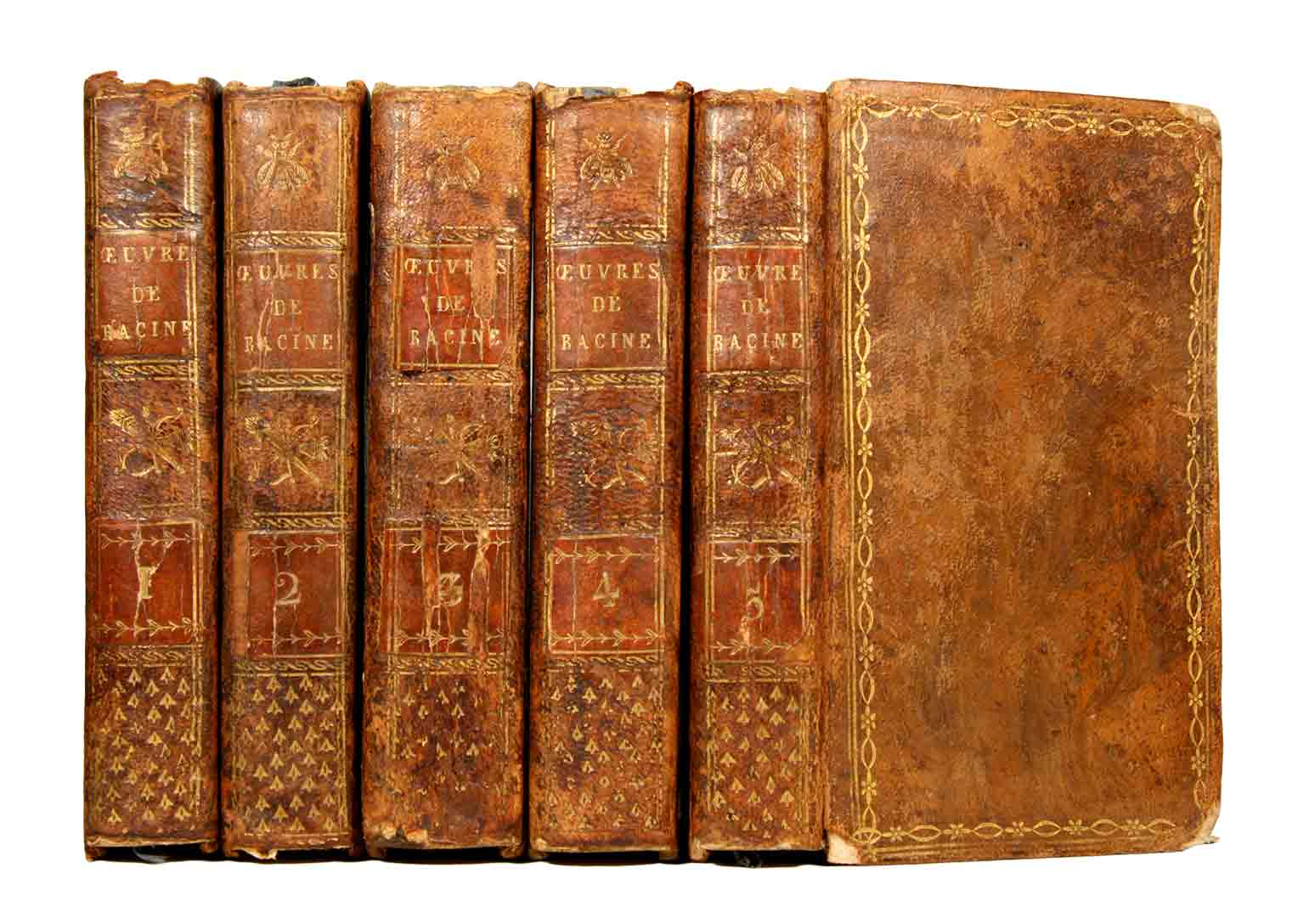 RACINE, JEAN: - Oeuvres de Racine. Deuxième tirage. En cinq volumes, complet.