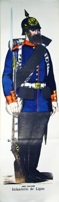 - Armée Prussienne, Infanterie de Ligne (Image d'Epinal).