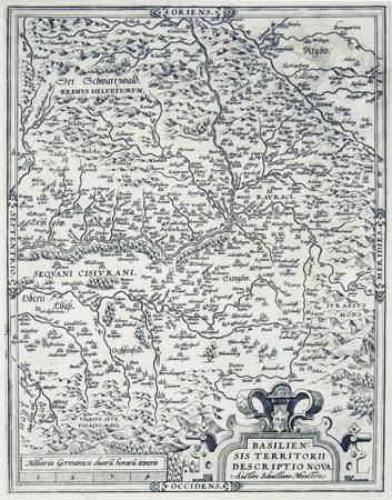 ORTELIUS, ABRAHAM & MÜNSTER, SEBASTIAN: - Basiliensis Territorii Descriptio Nova.